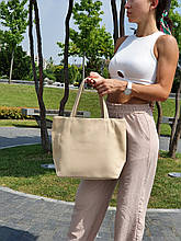 "Стильная сумка ""Ashley New"" - №5 - ICED COFFEE  - цвет  бежевый"