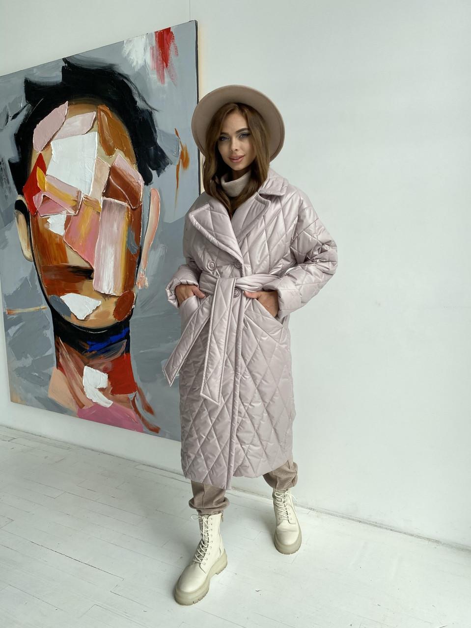 Женское стеганое пальто демисезонное (р. XS, S, M, L, XL) арт. 48532/116-97