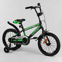 """Велосипед 16"""""""" дюймов 2-х колёсный """"""""CORSO"""""""" ST-16312 (1) стальная рама, стальные противоударные диски с"""
