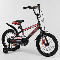 """Велосипед 16"""""""" дюймов 2-х колёсный """"""""CORSO"""""""" ST-16700 (1) стальная рама, стальные противоударные диски с"""