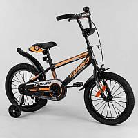 """Велосипед 16"""""""" дюймов 2-х колёсный """"""""CORSO"""""""" ST-16908 (1) стальная рама, стальные противоударные диски с"""