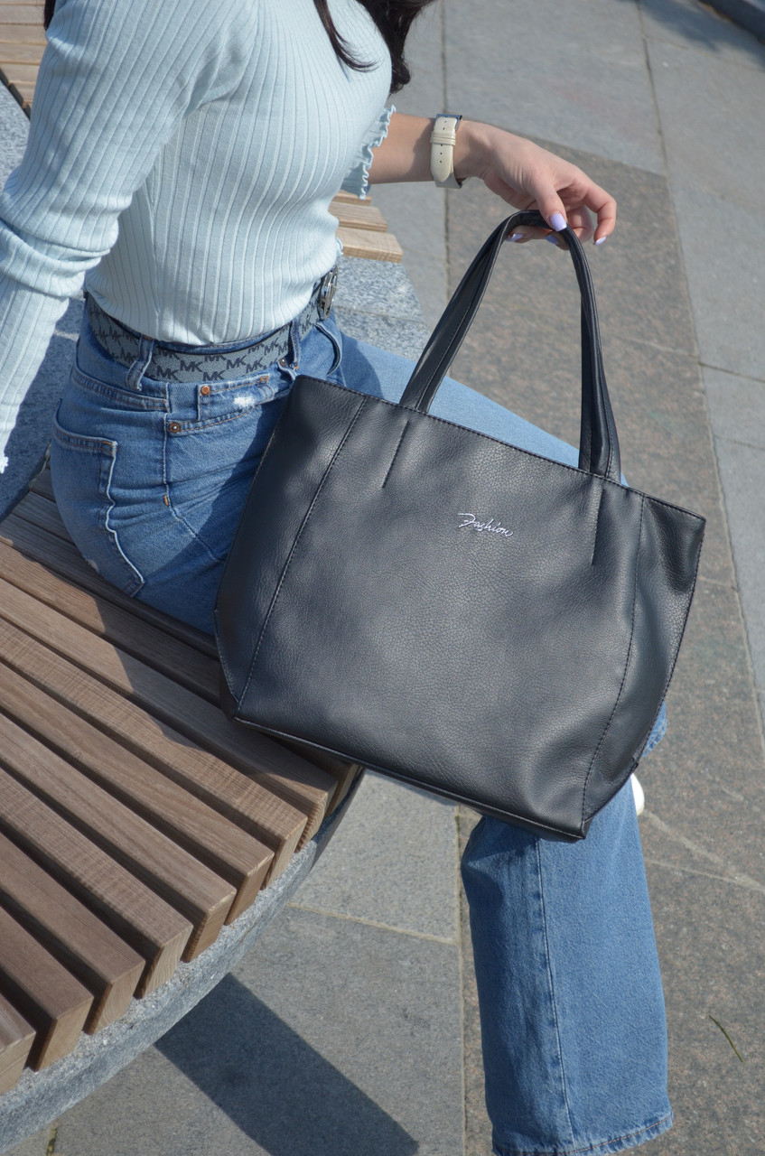 "Стильная сумка ""Ashley New"" - 11 - BLACK  - цвет черный"