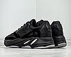 Чоловічі кросівки чорні замш текстиль демісезонні на високій підошві, фото 3