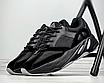 Чоловічі кросівки чорні замш текстиль демісезонні на високій підошві, фото 2