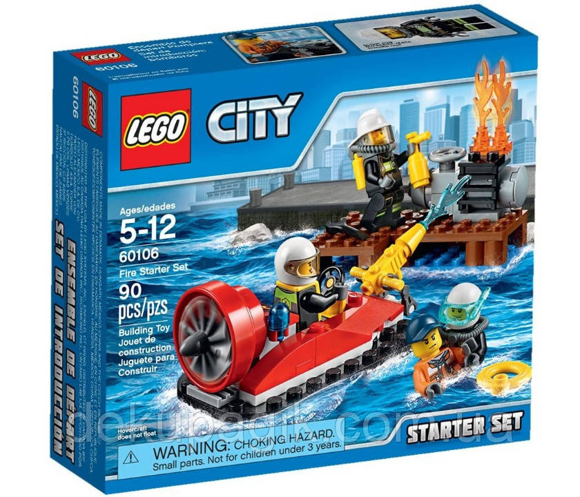 Lego City Набор для начинающих Пожарная охрана 60106