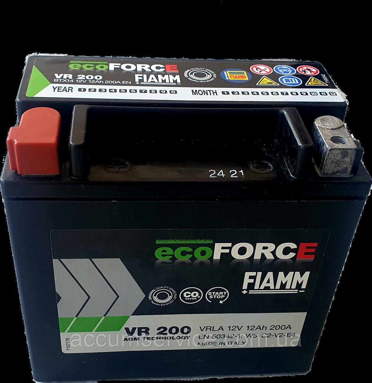 Акумулятор FIAMM ECOFORCE AGM VR 200 BTX14