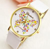 Наручные часы Geneva бабочка/белые