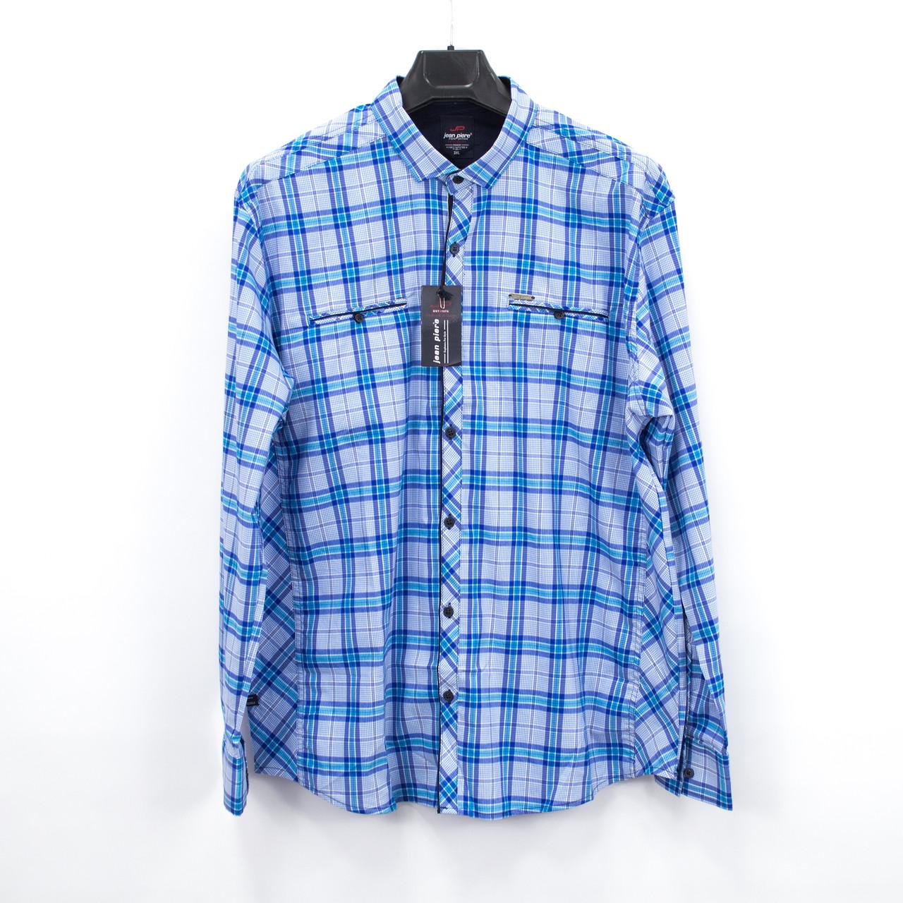 Сорочка чоловіча, приталена (Slim Fit), з довгим рукавом Bagarda JP8730-B WHITE 93% бавовна 7% еластан 3XL(Р)