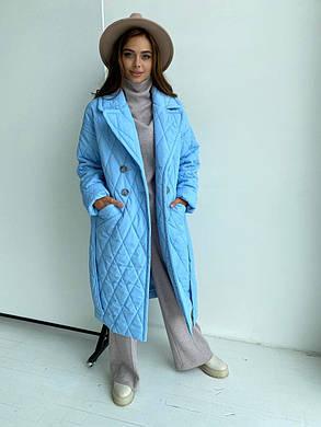Женское стеганое пальто демисезонное (р. XS, S, M, L, XL) арт. 48491/116-97, фото 2
