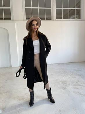 Женское черное кашемировое пальто ниже колена (р. S, M, L) арт. 48598/118-23, фото 2