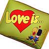 "Подушка ""Love is"" маленькая салатовая"