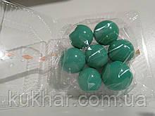 Желатинові кульки для прткрашання тортів Бірюзові (7шт)