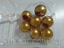 Желатинові кульки для прткрашання тортів Золоті (7шт)