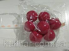 Желатинові кульки для прткрашання тортів Малинові (7шт)