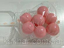 Желатинові кульки для прткрашання тортів Рожеві (7шт)