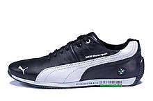Чоловічі шкіряні кросівки Puma BMW MotorSport Black (репліка)