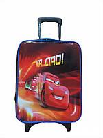 """Детский чемодан на 2 колесиках """"Молния Маккуин"""", телескопическая ручка 2 положения"""