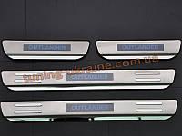 Накладки на пороги с подсветкой для Mitsubishi Outlander 2012-2014