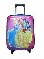 """Детский чемодан на 2 колесиках """"Принцессы Дисней"""", телескопическая ручка 2 положения"""