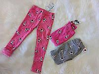 Леггинсы для девочек с меховым начесом Minnie 3-8 лет