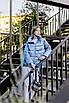 Куртка демісезонна коротка Batterflei 2116 блакитний, фото 2