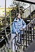 Куртка демисезонная короткая Batterflei 2116 голубой, фото 2