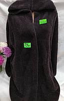 Кардиган жіночий теплий однотонний з альпаки з капюшоном розмір 46-50, колір уточнюйте при замовленні