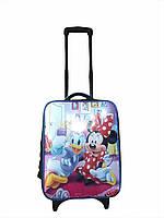 """Детский чемодан на 2 колесиках """"Минни Маус"""", телескопическая ручка 2 положения"""