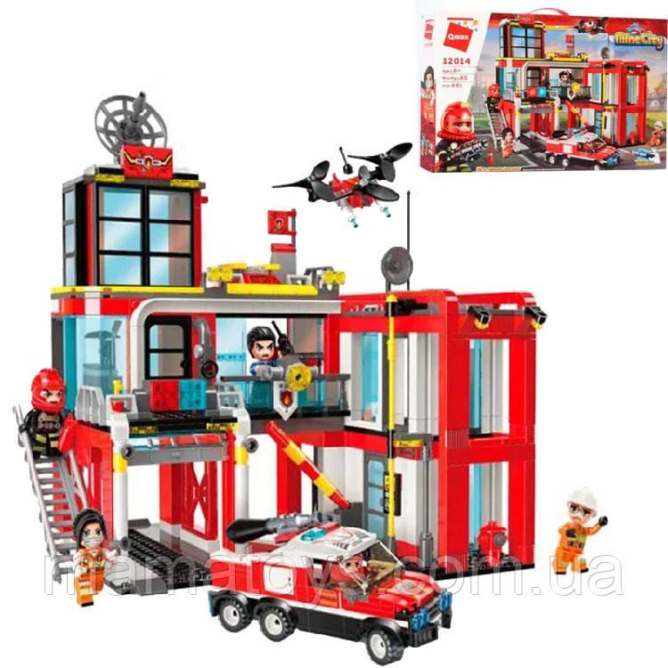 Конструктор Qman 12014 Пожежна станція, транспорт 693 деталі