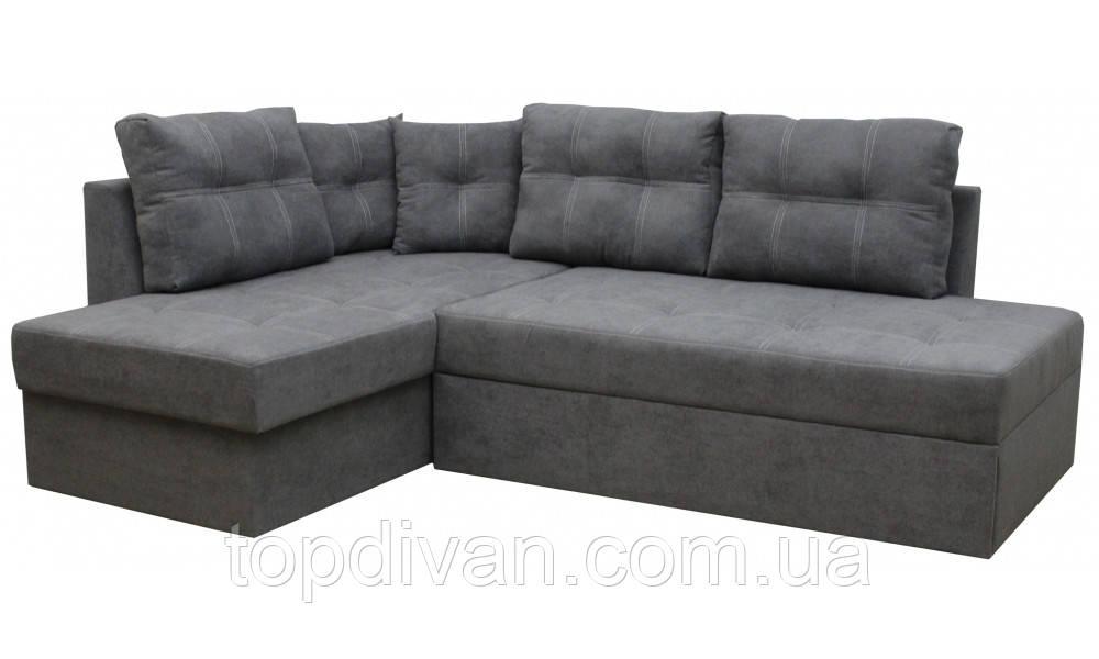 """Кутовий диван """"Сандро"""" (Donna 18) Габарити: 2,25 х 1,70 Спальне місце: 2,05 х 1,45"""