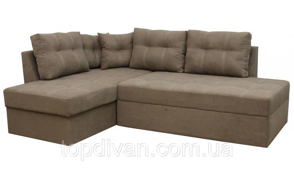 "Угловой диван ""Сандро"" (Donna 19) Габариты: 2,25 х 1,70  Спальное место: 2,05 х 1,45"