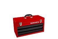 Металлические коробки, 3 drawers and upper tray metallic case, Bahco, 1483K3RB