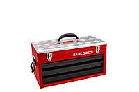 Металлические коробки, 3 drawers and upper tray metallic case, Bahco, 1483KHD3RB