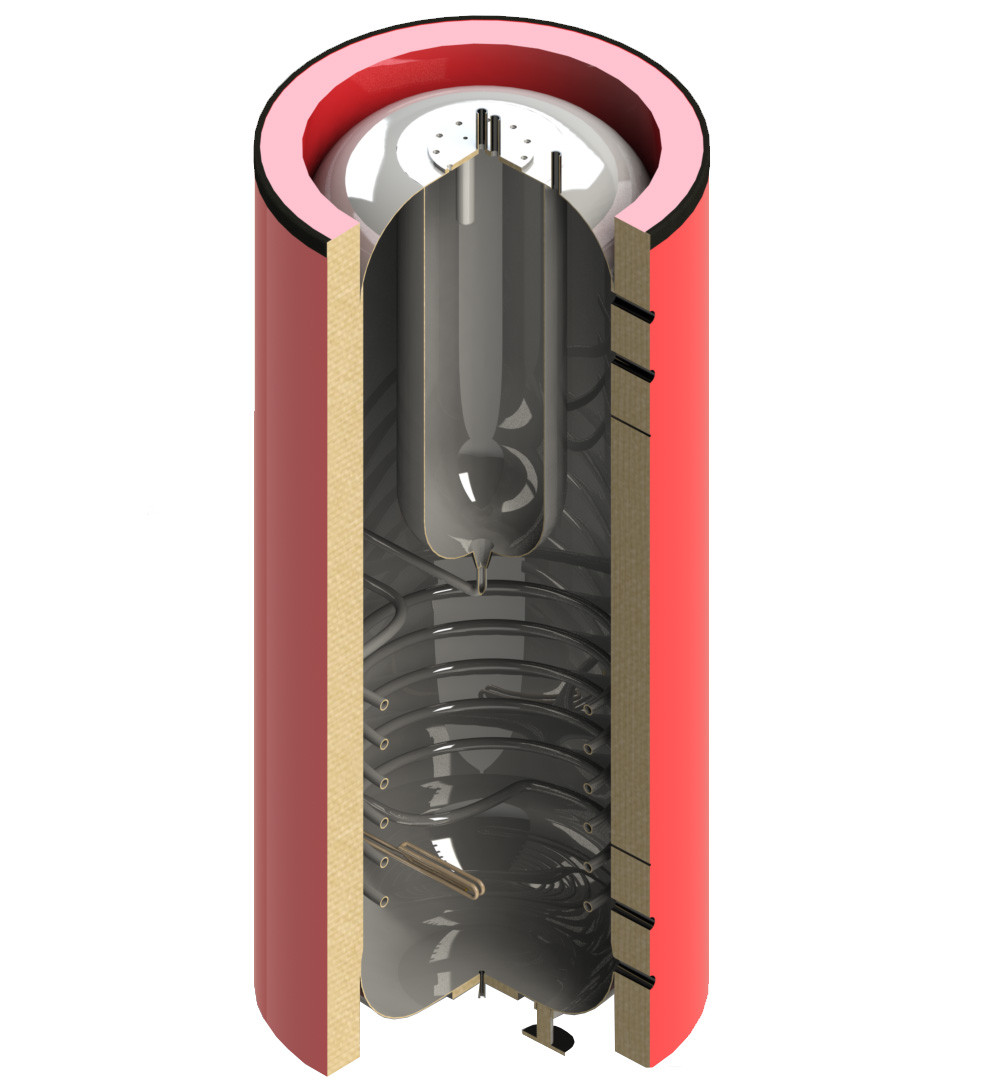 Теплоаккумулятор Termico 400 л. с изоляцией
