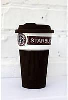 Чашка керамическая кружка Starbucks Brown 008, фото 1