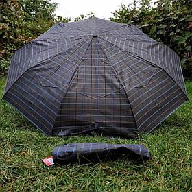 Зонт женский Темно-коричневый, клеточка арт.308P-2