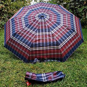 Зонт женский Бордовый/Синий, клеточка арт 308P-3