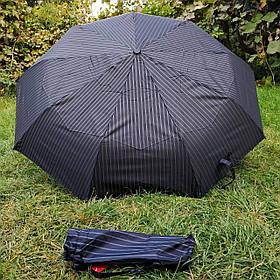 Зонт женский Темно-коричневый, полоска арт.308P-4