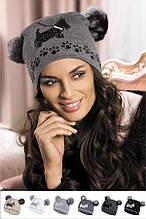 Красивая молодежная шапка от Kamea со стразиками - AVRIL.