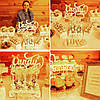 Кэнди бар свадебный (Candy bar) в бежево-золотых тонах, фото 7
