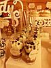 Кэнди бар свадебный (Candy bar) в бежево-золотых тонах, фото 5