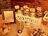 Кэнди бар свадебный (Candy bar) в бежево-золотых тонах, фото 4