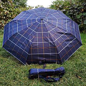 Зонт женский Темно-синий, клеточка арт.308P-7