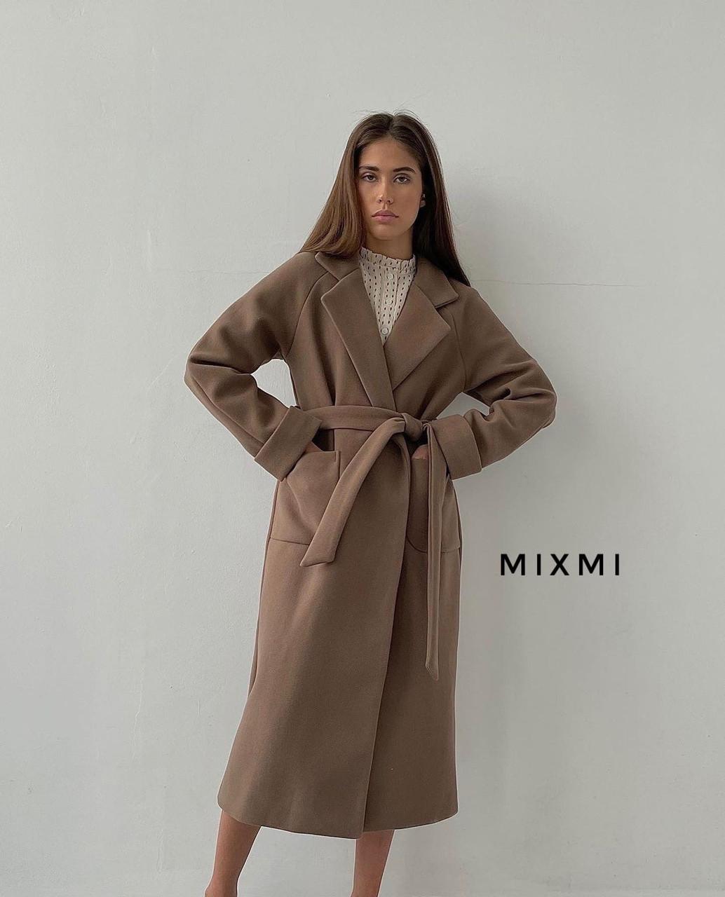 Пальто жіноче, кашемір на підкладці, р-р універсальний 42-46 (мокко)