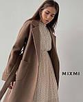 Пальто жіноче, кашемір на підкладці, р-р універсальний 42-46 (мокко), фото 2