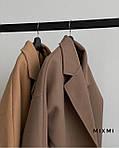 Пальто жіноче, кашемір на підкладці, р-р універсальний 42-46 (мокко), фото 3
