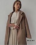 Пальто жіноче, кашемір на підкладці, р-р універсальний 42-46 (мокко), фото 4