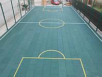 Резиновое напольное покрытие для спортивных площадок