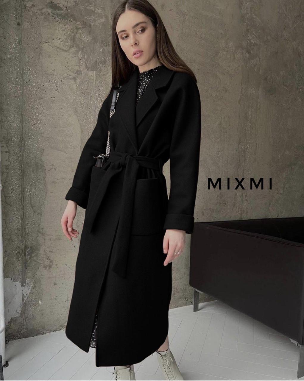 Женское пальто, кашемир на подкладке, р-р универсальный 42-46 (черный)