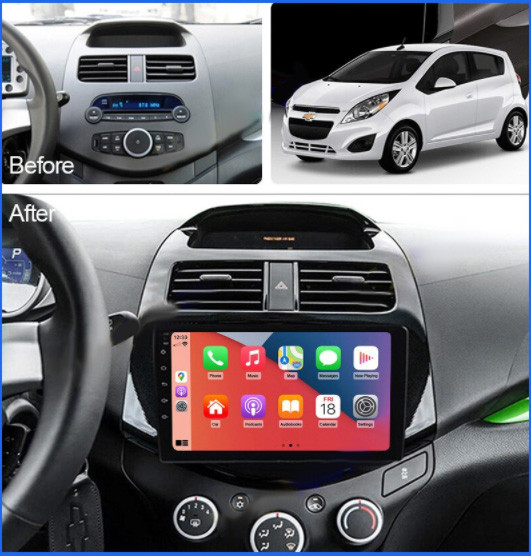 Штатна Android Магнітола на Chevrolet Spark 2009-2016 Model P6/P8-solution (М-ШС-9-Р8)